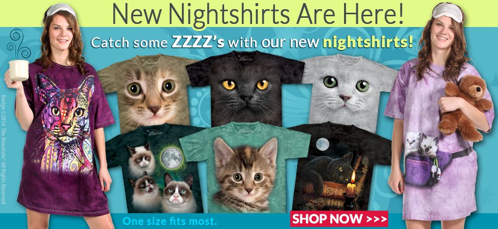 New nightshirts are here! Catch some zzzz's with our new nightshirts! One size fits most. SHOP NOW>>>