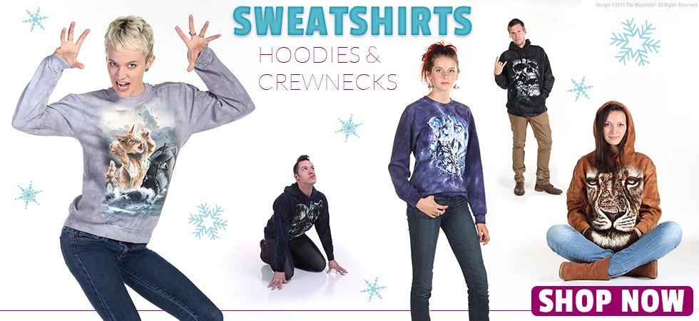Sweatshirts, crew neck and hoodies