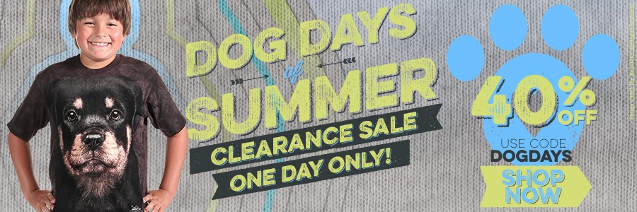 Summer Clearance Sale! 40% 0ff Clearance Items. Use Code: DOGDAYS