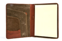 "Tony Perotti Unisex Italian Cow Leather 8.5x11"" Notepad Business Writing Padfolio"