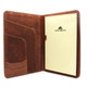 Ultimo Executive Business Writing Pad PI803301 Cognac Open