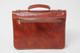 Rimini Double Compartment Italian Leather Briefcase | Back Zippered Compartment | Color Honey