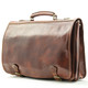 Florence Messenger Bag | Front Angle | Color Brown