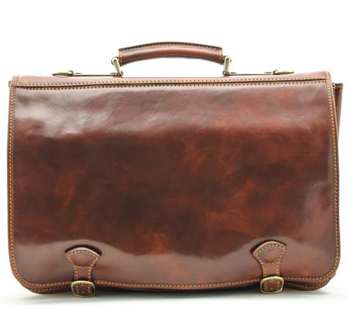 Florence Messenger Bag | Front | Color Brown