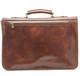 Florence Messenger Bag  | Back Zipper Compartment | Color Brown |