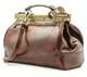 Modena - Doctor leather bag | Brown | Detachable shoulder strap
