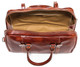 Milano Travel Leather Bag | Open | Color Red