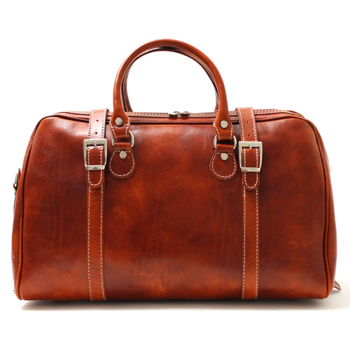 Milano Travel Leather Bag | Color Honey