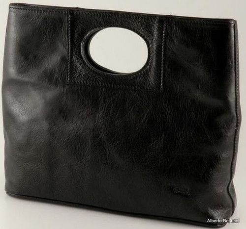 Ivanka Italian Leather Handbag | Color Black