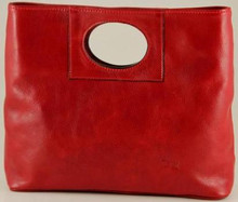 Ivanka Italian Leather Handbag | Color Red