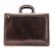 Vernio Single Gusset Briefcase | Color Brown | Back Zipper Compartment