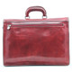 Capri Triple Compartment Flap Over Briefcase  | Back Zipper compartment |  Color Red