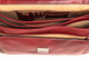 Capri Triple Gusset Flap Over Briefcase | Open Inside | Color Red
