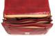 Capri Triple Gusset Flap Over Briefcase   Open Inside   Color Red