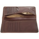 Handmade Italian Leather Wallet | Brown | Open 3
