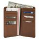 Handmade Italian Leather Wallet | Cognac | Open