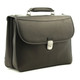 Handmade Italian Leather Briefcase | Left Angle View