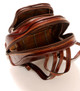 Monza Zip-Around Backpack PI220404 | Color Brown | Open