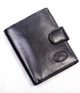 Handmade Italian Leather Wallet | Black | Front 2