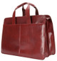 Handmade Italian Leather Briefcase | Burgundy | Back