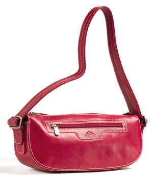 Handmade Italian Leather Handbag | Fuchsia | Front