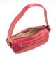Handmade Italian Leather Handbag | Fuchsia | Open