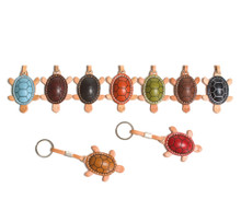 Handmade Italian Leather Key Chain | Group