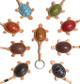Handmade Italian Leather Key Chain | Group 3