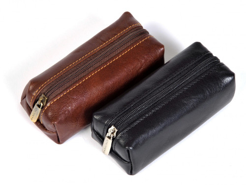 Italico Top-Zip Key Case | Pair | Color Black and Brown