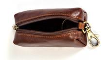 Italico Top-Zip Key Case   Top Open   Color Brown
