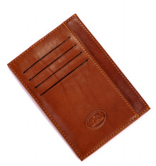 "Tony Perotti Mens Italian Bull Leather Front Pocket 5"" Credit Card Case Holder Wallet"