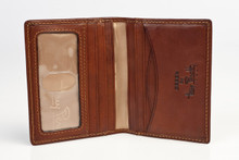 Tony Perotti Mens Italian Cow Leather Front Pocket Bifold Weekend Wallet with ID Window