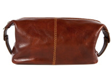 Milano Travel Kit | Brown | Polished calf-skin leather