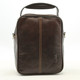 The Lugano Vertical Flap-Over Carry All Bag | Color Brown | Back view