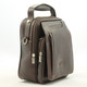 The Lugano Vertical Flap-Over Carry All Bag | Color Brown | Italian Bull Leather