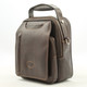 The Lugano Vertical Flap-Over Carry All Bag | Color Brown | Right Italian Bull Leather