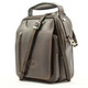 The Lugano Vertical Flap-Over Carry All Bag | Color Brown | Lock view