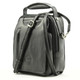 The Lugano Vertical Flap-Over Carry All Bag | Color Black - Right Angle view