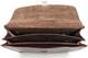 "Augustus 16"" Laptop Briefcase | Brown | Open detail"