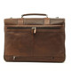 Classico Italiano Double Compartment Laptob Brief | Brown | Back