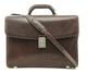 Giorgio Triple Compartment Briefcase | Brown | With Strap