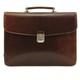 Massimo Bellini Briefcase | Brown | Front