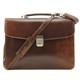 Massimo Bellini Briefcase | Brown | With Strap