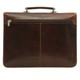 Massimo Bellini Briefcase | Brown | Back
