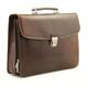 Massimo Bellini Briefcase | Brown | Right Angle view