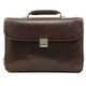 Roberto Four-Compartment Briefcase | Brown | Front