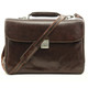 Roberto Four-Compartment Briefcase | Brown | With Strap