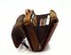 Muiska Lucas - Laptop Compatible Leather Messenger Bag - Side Open View, Saddle