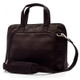 Muiska Ivanka - Women's Leather Business Briefcase - Front View, Brown