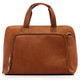 Muiska Ivanka - Women's Leather Business Briefcase - Front View 2, Saddle